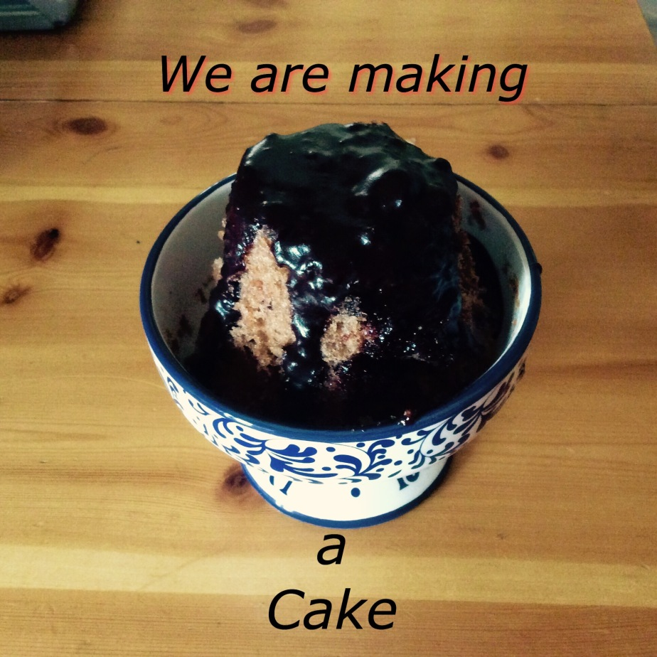 We are making a cake.