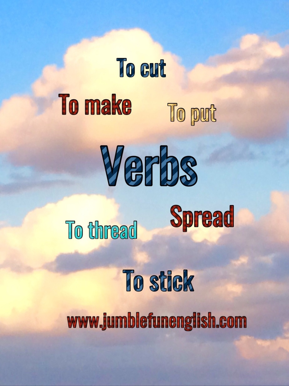 Verbs that are used when makingthings.