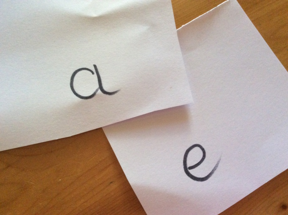 Vowels 'a' and 'e'