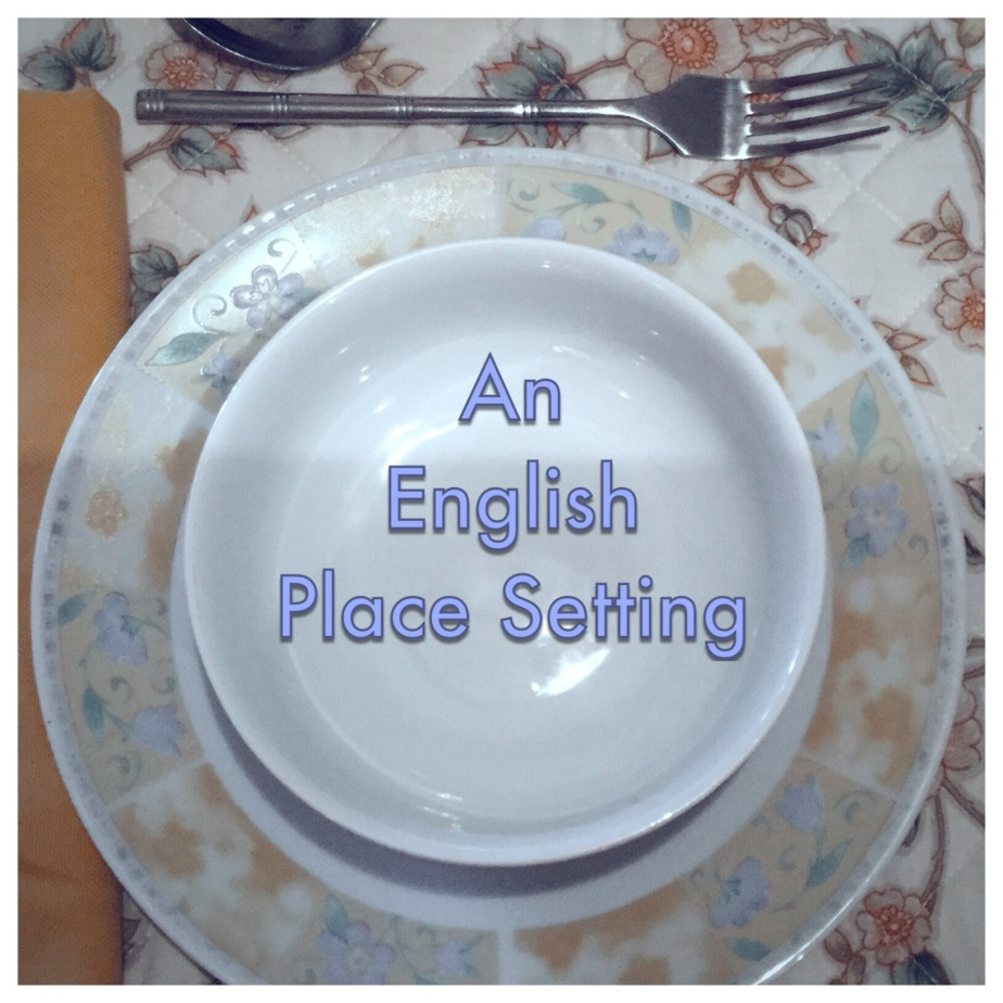 An English Place Setting